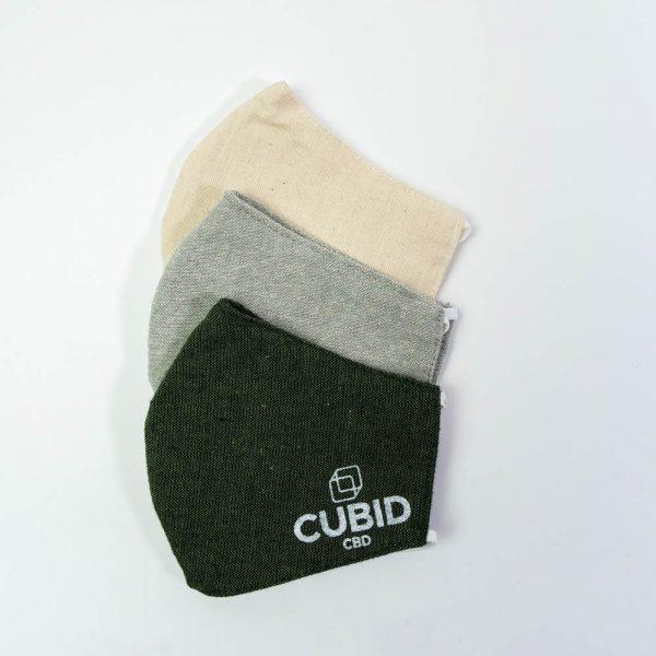 CUBID CBD natural hemp blended face masks, face coverings, sustainable face masks